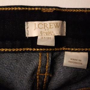 J. Crew Stretch Jeans 27/30 Dark Wash
